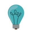 silhouette with blue bulb light on vector image