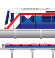 Sky Train in Bangkok Thailand vector image