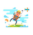 skydiving sport flat vector image vector image
