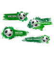 soccer ball flying with star for football design vector image vector image