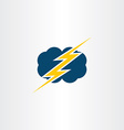 storm thunder cloud icon symbol vector image