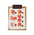 table notepad with sheets and graphics vector image