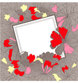 template for gift card vector image vector image