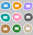 ticket icon sign Multicolored paper stickers vector image vector image