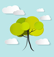 Tree with Clouds vector image vector image