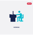 two color working icon from human resources vector image vector image