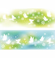 two seamless springtime background vector image vector image