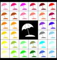 umbrella and sun lounger sign felt-pen 33 vector image vector image