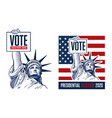 united states presidential election vector image vector image