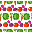 vegetables cabbage and carrot tomato and beetroot vector image vector image