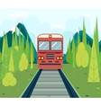 Wagons In Forest Tourism and Journey Symbol vector image vector image