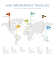 World map of hexagon Internet infographic vector image vector image