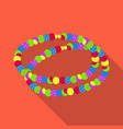 colored beadshippy single icon in flat style vector image