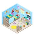 teenager room interior isometric vector image