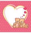 valentine teddy bears frame vector image