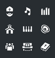 set of religion icons vector image