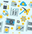bitcoin mining money icons finance internet vector image