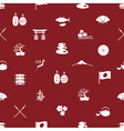 Japanese icons seamless pattern eps10 vector image