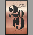 2019 happy new year greeting card vector image vector image