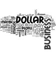 a dollar a day text word cloud concept vector image vector image