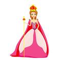 A of cartoon queen vector image