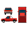 A red vehicle vector image vector image