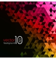 Abstract polygonal triangles poster vector image