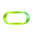 abstract shape white green oval vector image vector image