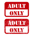 Adult only sign - shabby stamp vector image