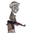 Arab man with a gun vector image vector image