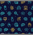 artificial intelligence signs seamless pattern vector image vector image