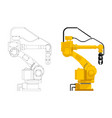 assembly handling robot vector image