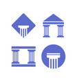 attorney at law logo and icon template vector image