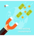 Attracting investments concept vector image