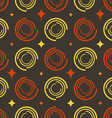 Background colored circles stars vector image