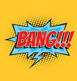 bang comic word vector image vector image