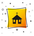 black church building icon isolated on white vector image