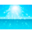 blue sea abstract background vector image vector image