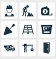 building icons set collection of maintenance vector image vector image