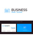 calendar date month year time blue business logo vector image