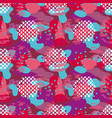 camo red and violet seamless pattern vector image vector image