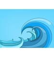 cartoon nature landscape sea vector image vector image