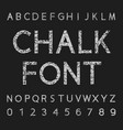 chalk font and number design vector image