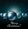 Christmas balls on a dark background vector image