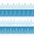 christmas trees seamless vector image vector image