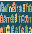 Color houses seamless pattern vector image vector image