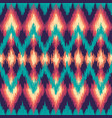 colorful seamless ikat ethnic pattern zigzag vector image vector image