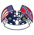 confederate vs union soldier vector image vector image