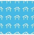 Cottage straight pattern vector image