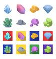 crystals iron ore precious minerals and a vector image vector image